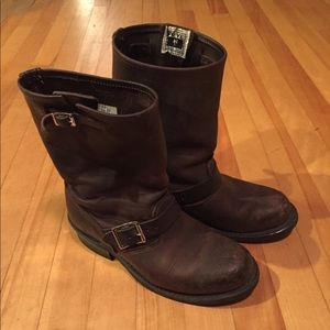Brown Frye Motorcycle Boots